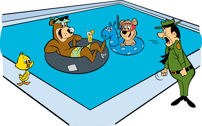 Yacky-yogi-boo-in-pool