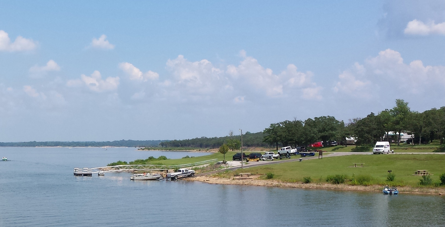 Boat Launch at Keystone Lake RV park Mannford OK