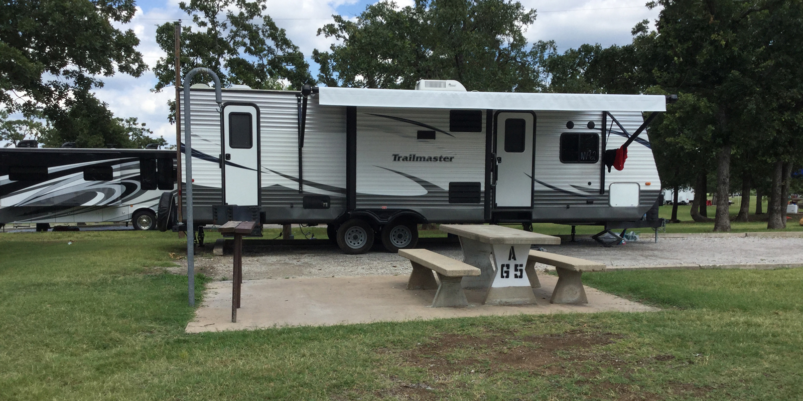 A Standard RV Site at Keystone Lake RV park Mannford OK