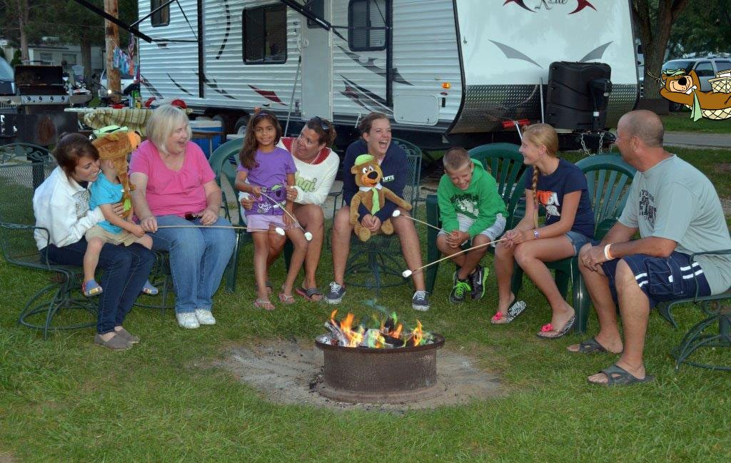 campfire family slider at Keystone Lake RV park Mannford OK