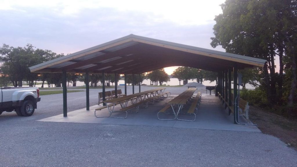 Pavilion Rental at Keystone Lake RV park Mannford OK